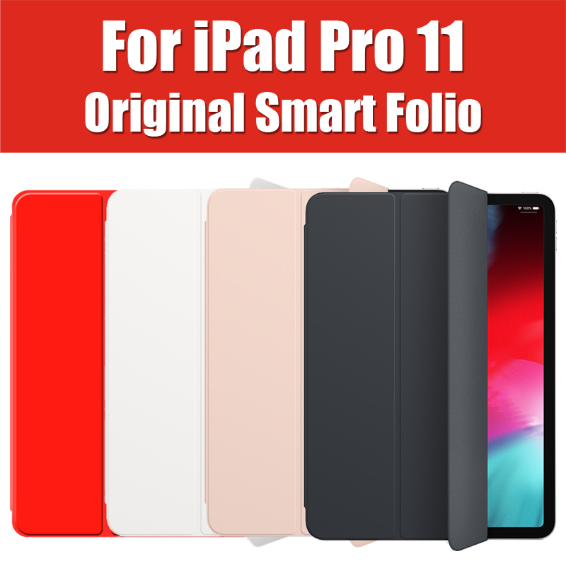 MRX72FE/A 2018 11 polegada Estilo Original Inteligente Caso Folio Para O iPad Pro 11 Folio Magnética Capa de Couro Da Aleta