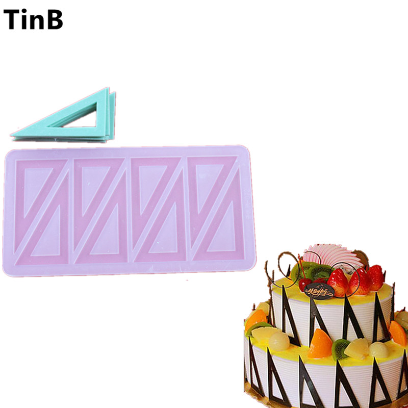 Hot Triangles Shaped DIY Chocolate Mold Cake Mould Birthday Cake Cupcake Decoration Tool 3D Cake Decorating Tools Baking Tools
