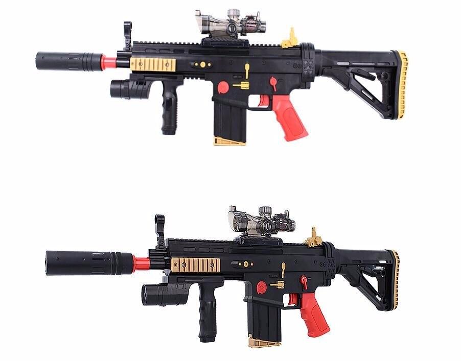 Oyuncaklar ve Hobi Ürünleri'ten Oyuncak Silah'de Elektrikli Oyuncak Tabanca Yara Izi Paintball yumuşak kurşun Silah Tüfek Saldırı Savaş Snipe Silah Kahraman Çocuk Yetişkin Oyuncak Hediye