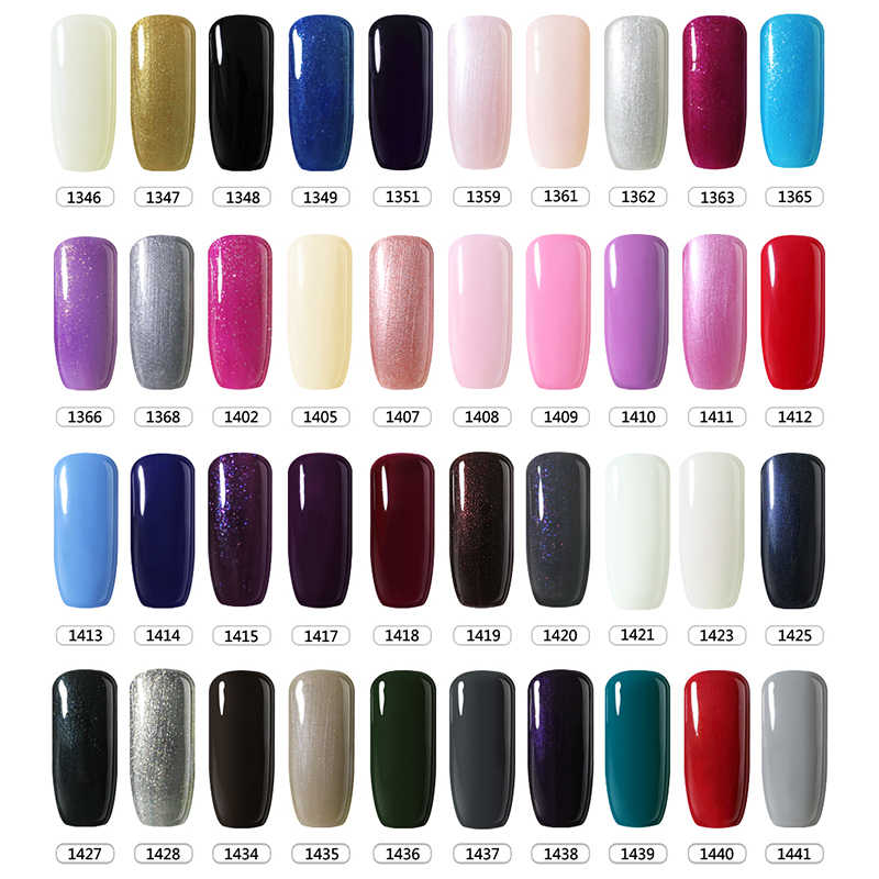 1ada71a0d8 BELLE FILLE Gel Nail Polish UV 10ml White Black Nude Pink Soak Off Gel  Polish Gel Lacquer Nail Art Vernis Semi Permanent 90483