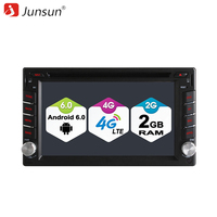 Junsun 2 Din Android 4G LTE WIFI Bluetooth GPS Navigation Universal Radio Cassette Recorder Automagnitol Car