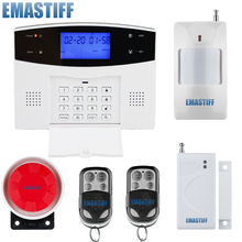 Dual network Russian Spanish French Wireless GSM PSTN Alarm system Home security Alarm systems with LCD Keyboard without battery