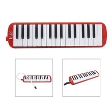 IRIN 1 set 32 Key Piano Style Melodica With Box Organ Accordion Mouth Piece Blow Key Board (Red)