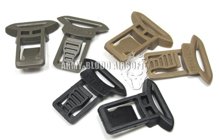 OPS-CORE Goggle Swivel Clips side rails goggles helmet buckle (15mm)