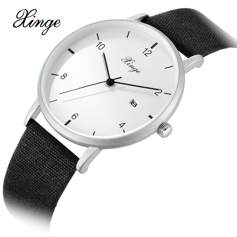 Men Watch Xinge Top Brand Luxury Wrist Watch Fashion Simple Casual Business Clock Quartz Watches Leather Strap Sport Wristwatch fashion business watches men 2016 top luxury band famous waterproof quartz wrist watches for men leather casual sport watches