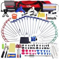 PDR Paintless Dent Repair инструменты Толкатель крючки лом набор светодио дный светодиодный свет отражатель доска клей Съемник PDR Dent Removal tool kit