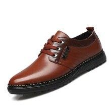 2017 Del Otoño Del Resorte Ligero Hombres Zapatos Casuales Zapatos de Moda de Cuero de LA PU Toe Ata Para Arriba Alrededor De Coser Zapatos Masculinos de Negocios británico X17 65