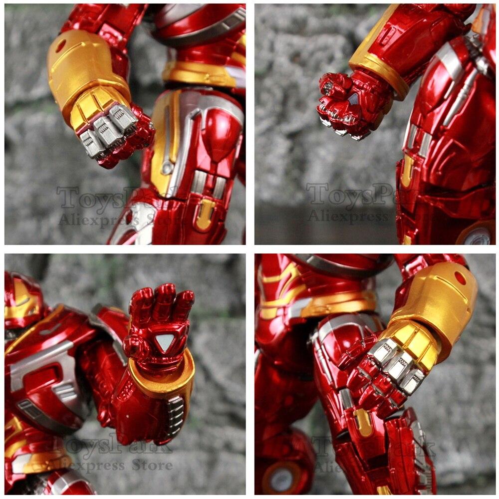 Marvel Avengers Hulkbuster Mark44 22cm Action Figure LED Light Hulk Buster Iron