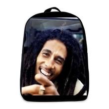 New Cool Bob Marley Mini School Backpack Children Book Bag Printing Fashion Travel Men Laptop Shoulder Daily Backpack Bags