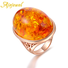 Ajojewel Size 7-9 Large Women Oval Rings Jewelry Bride Wedding Gift Nice 2019