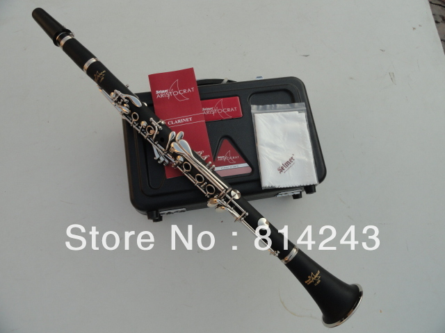 все цены на  Brand Selmer Bb Clarinet Drop B Composite Wood Clarinet 17 Key Nickel Plated Clarinete Professional Musical Instrument With Case  онлайн