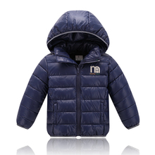 Hot Selling~! Baby boy girls winter Jackets 2016 New Sport Jacket Kids Coat Active Hooded High Quality 3-10 Years