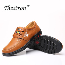 Купить с кэшбэком Thestron New Arrival Men Shoes Winter Oxford Mens Winter Shoes Fur Leather Shoes Men Handmade Casual Thick Boots Winter Classic