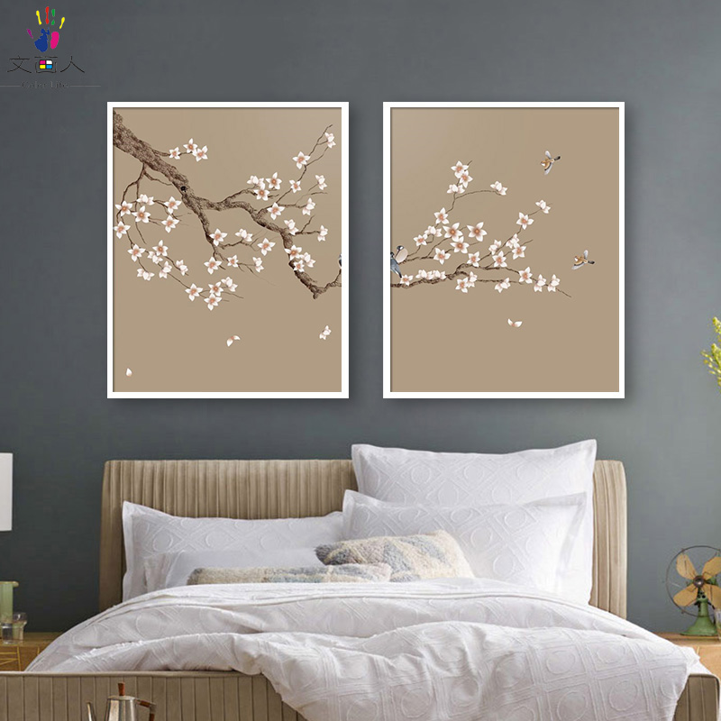 diy painting coloring by numbers with kits on canvas 2 pieces White flower pictures paint by numbers for hoom wall decoration