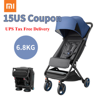 2019UPS Tax Free Delivery 6.8kg folded size 48*41*26cm one hand open baby stroller Carry on air plane directly portable stroller