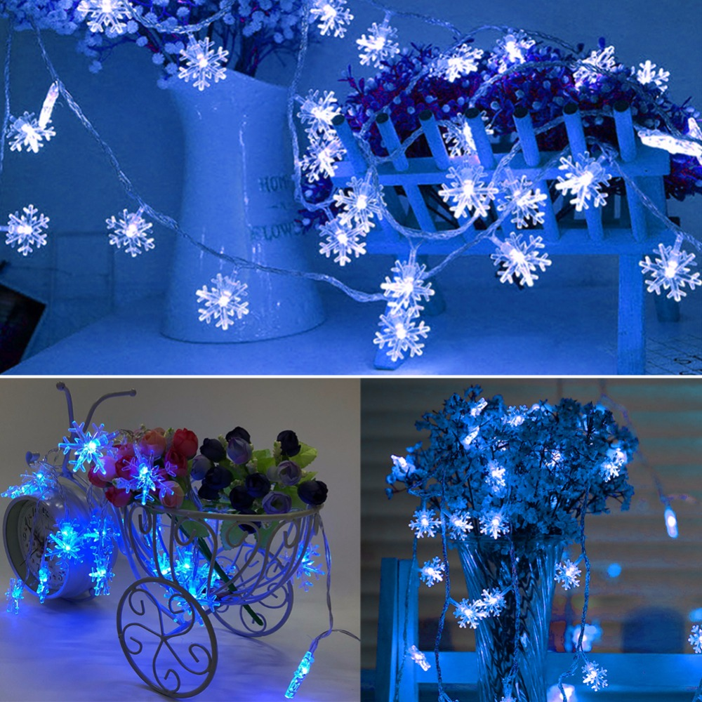 2M 10M USB Snow LED String Lights Christmas Decorations