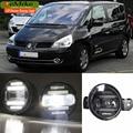 Eemrke Xenon branco de alta potência 2em1 LED DRL luz de nevoeiro com lente do projetor para Renault Espace 4 IV 2002 - 2014
