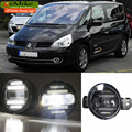eeMrke Xenon White High Power 2in1 LED DRL Projector Fog Lamp With Lens For Renault Espace 4 IV 2002-2014