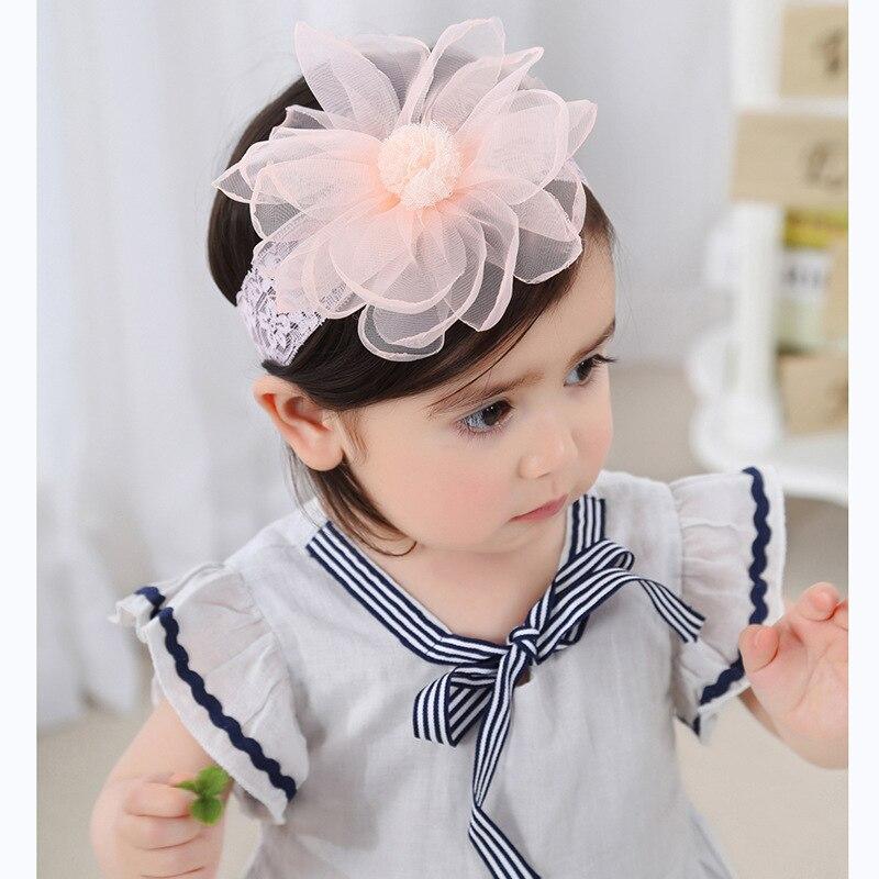 Baby Girls Headband Newborn Toddler Headdress Kids Cute Lace Flower Hairbands Child Headwear Hair Accessories Baby Things 0-3Y