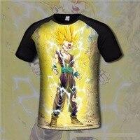 Camisa de t dos homens confortável anime dragon ball goku impressão 3d tshirts respirável gamer casual clothing camisa da forma flexível
