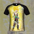 Dragon Ball Goku Men's Cotton T shirt Comfortable Anime 3d Print Breathable tshirts Casual gamer Clothing flexible fashion shirt