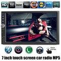 Новый 1 DIN 12 В 7 дюймов HD сенсорный экран радио автомобиль MP5 Автомобилей аудио Стерео FM поддержка обратный камера заднего вида 2 din USB/SD MMC В тире