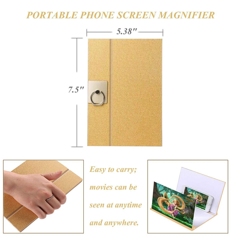 Human - 8 inch  Mobile Phone Screen Magnifier Stand