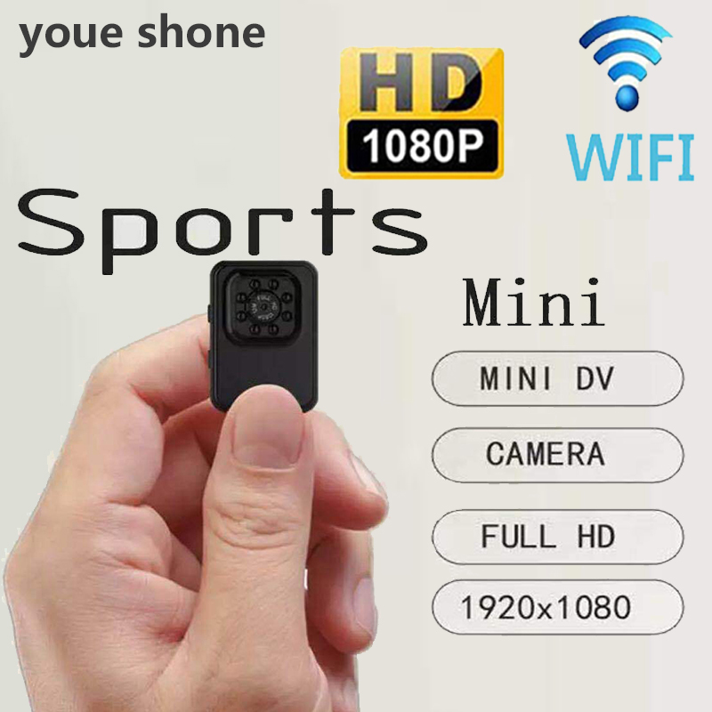 youe shone Wifi Mini Camcorders Night Vision 1080P Action Camera Infrared Small kamera HD Outdoor cycling Cam 12MP Micro cameras