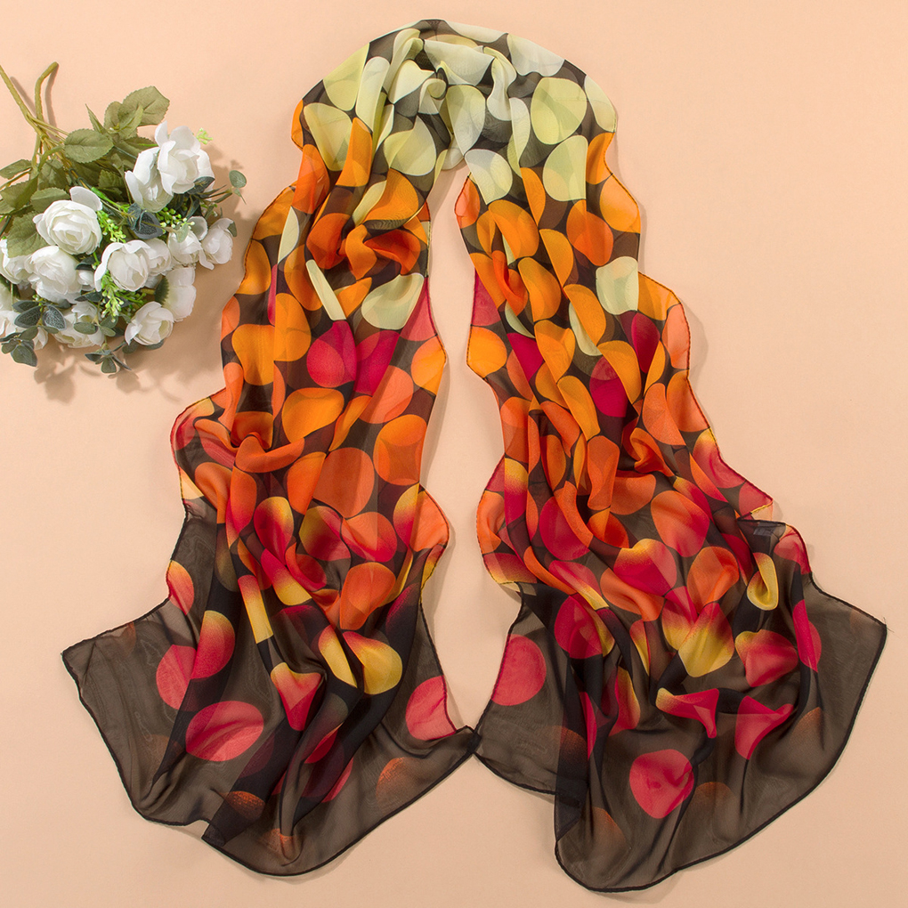 Women Girls Long Soft Polka Dot Chiffon   Scarf     Wrap   Shawl   Scarves