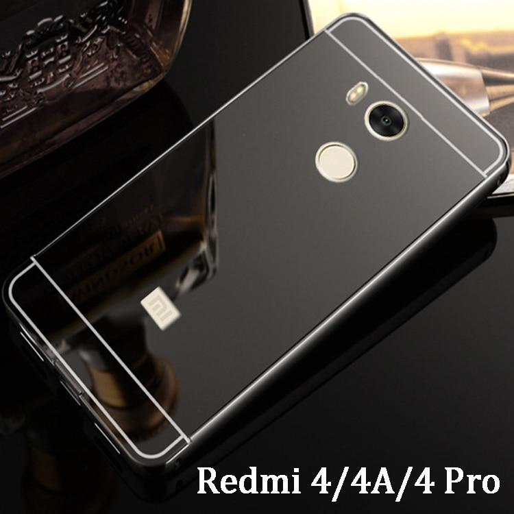 Redmi 4 pro case plating mirror aluminum metal bumper for Mirror xiaomi to pc