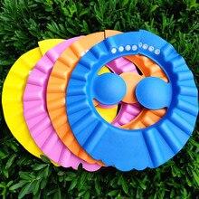 3 цвета регулируемая детская шапка для младенцев детский шампунь душ для купания шапочка для мытья волос козырек крышка s для ухода за ребенком