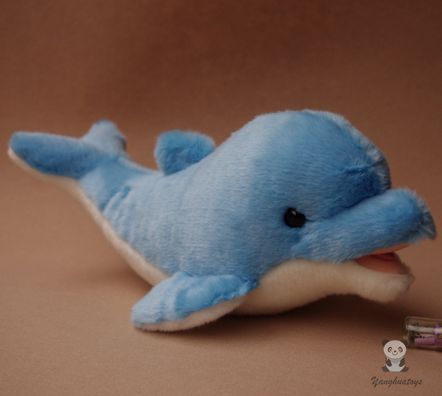 Cute Dolphins Plush Toys Large Blue Dolphin Dolls Beluga Pillow Toy