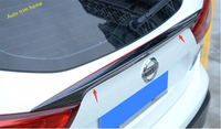 Lapetus Accessories For Nissan Qashqai J11 2014 2018 Effect Spoiler Rear Trunk Lid Cover Tailgate Trim / ABS Carbon Fiber