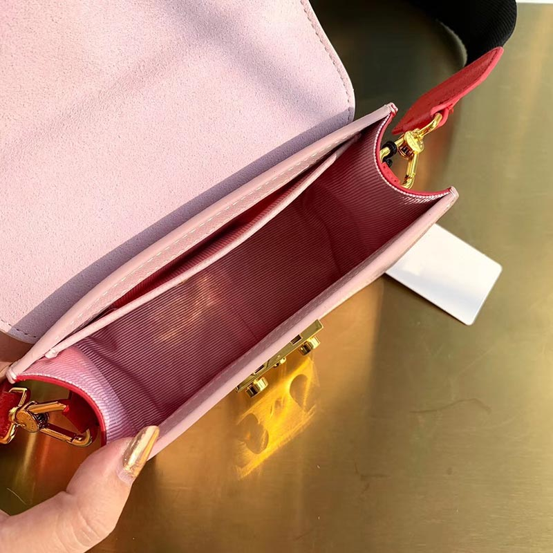 Di lusso di Marca Famosa Del Progettista Del sacchetto di Modo Genuino di cuoio reale della signora della rappezzatura Borse a Spalla Donna Borse del messaggero di crossbody-in Borse con manici da Valigie e borse su  Gruppo 3