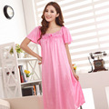 Kedatangan baru! 2015 spring and summer fashion ladies long section of lace nightgowns sexy, free shipping
