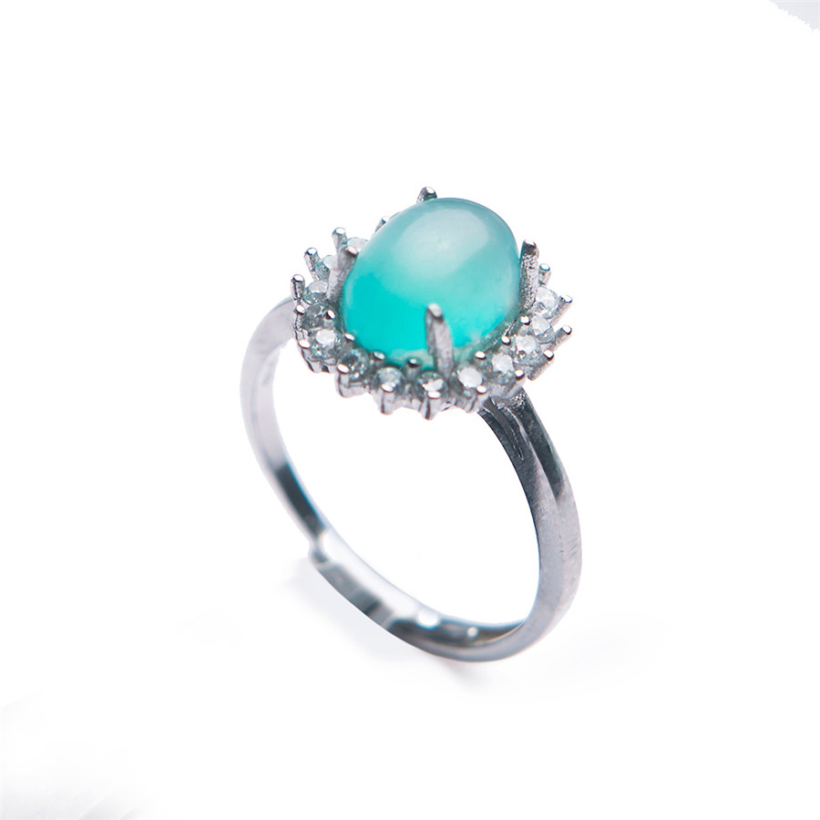 Genuine Natural Adjustable Amazonite Crystal Ring Women Ring Adjustable Size Crystal Ring Trendy 925 Sterling Silver Stone RingGenuine Natural Adjustable Amazonite Crystal Ring Women Ring Adjustable Size Crystal Ring Trendy 925 Sterling Silver Stone Ring