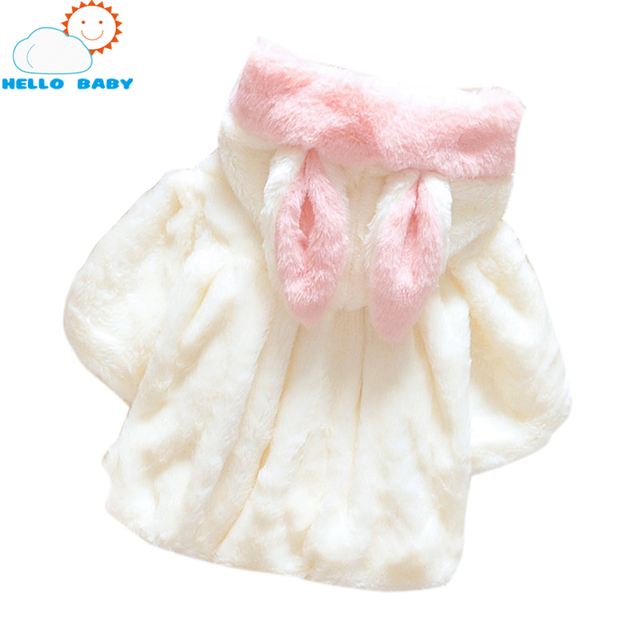 Winter spring baby clothes girl Faux Fur cute winter tench coat rabbit soft fleece cloak outerwear girls cape toddler clothing