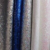 Vendita calda chunky DELL'UNITÀ di elaborazione chunky glitter tessuti in pelle materia prima vendita da yard all'ingrosso 40 yard per rotolo