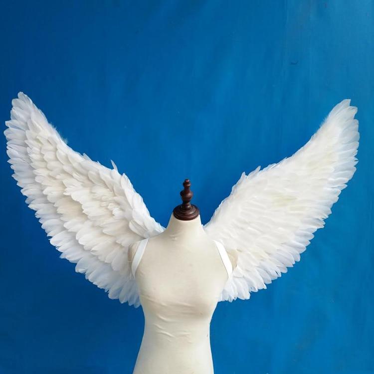 Белый угол крылья реквизит Самостоятельная Настройка для Косплей фотографии игры вечерние дисплей модные шоу реквизит свадебные украшения