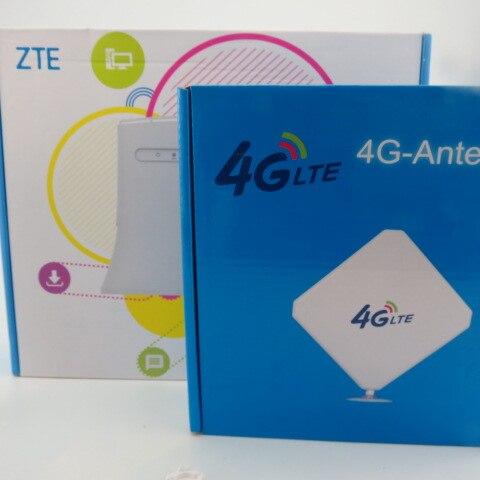 Routeur 4G WiFi ZTE MF283 + avec SMA Plug Aérienne Amplificateur 35dBi 4G LTE Antenne Booster Double Mimo