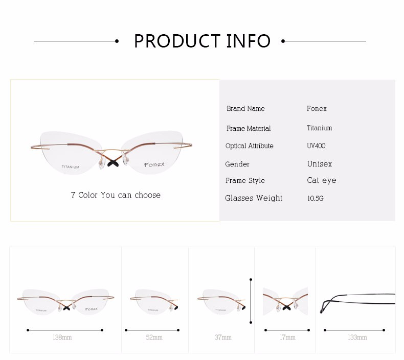 rimless women cat eye glasses silhouette fashion eyewear eyeglasses (1)