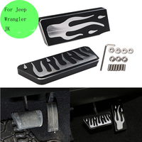 Top Aluminum Alloy Brake Pedal For Jeep Wrangler JK Foot Step Boards 2007 2017 Car Styling //