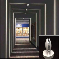 Thrisdar 7W zewnętrzne wodoodporne led światło werandy okna drzwi rama wiązka laserowa światła hotelu KTV nawa restauracyjna na ścianę W korytarzu lampa