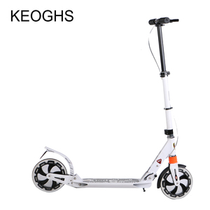 Image 5 - adult children aluminium scooter foldable PU 2wheels bodybuilding shock absorption urban campus transportation