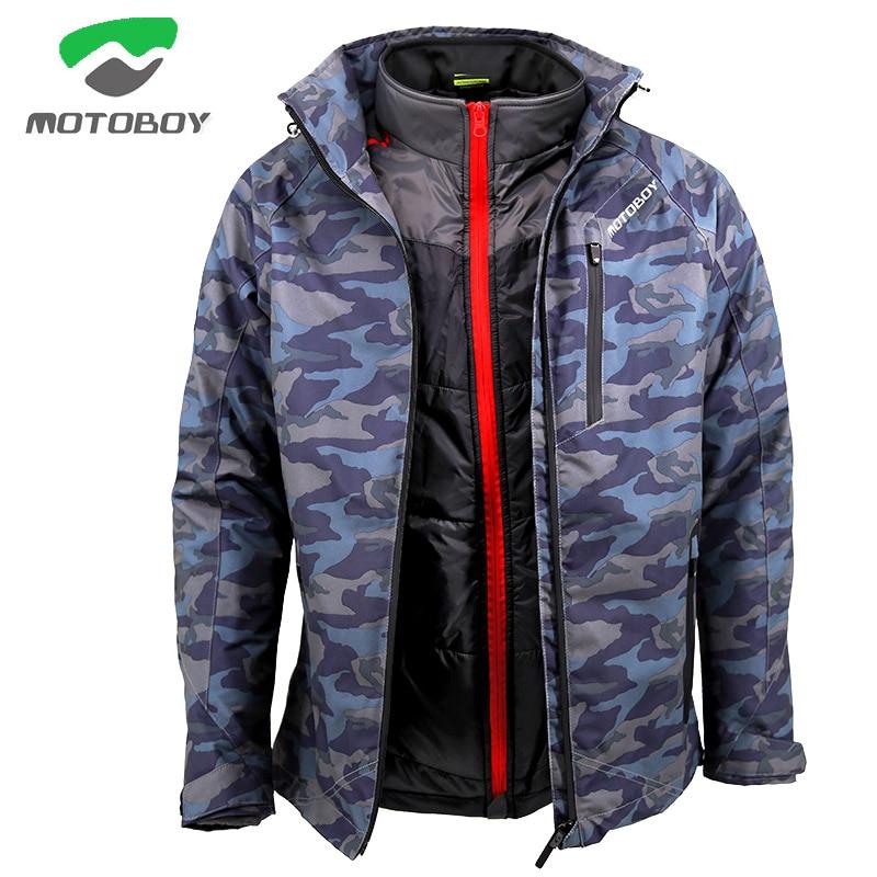 2018 MOTOBOY waterproof keep warm Motorcycle men Jacket, Motorbike motorbiker reflective coat with fallproof CE Protector