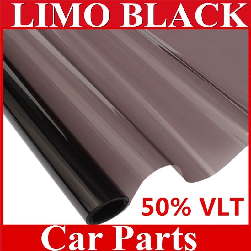 50% film d'isolation thermique antidéflagrant en verre noir 50 cm de large et 60 cm de long