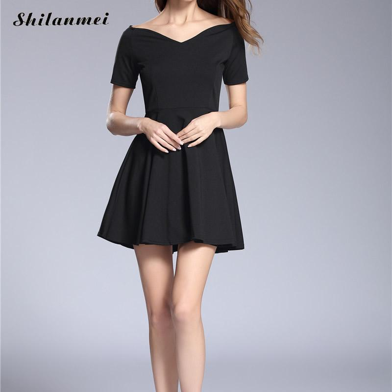 Elegant Roma Women Dress 2017 causal summer style Sexy Mini party dress Ladies sleeveless black dress for business women