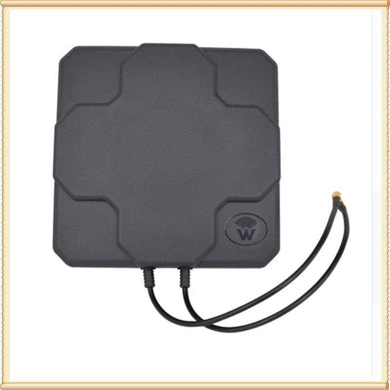 2 * 22dBi extérieur 4G LTE MIMO antenne, LTE double polarisation panneau antenne SMA-mâle connecteur (blanc ou noir) 20 cm câble