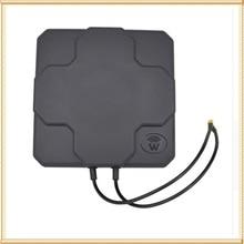 2*22dBi outdoor 4G LTE MIMO antenna,LTE dual polarization panel antenna SMA -Male connector  (white or black) 20cm cable