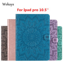Wekays For Apple IPad Pro 10.5 inch 3D Sun Flower Smart Leather Flip Fundas Case For Coque IPad Pro 10.5 2017 Tablet Cover Cases